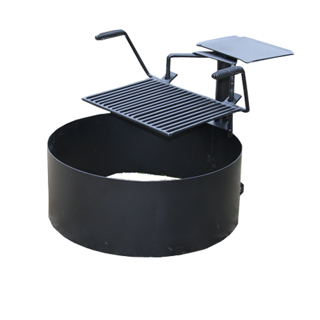 Fire Ring with 180 Degree Rotating Cooking Grate