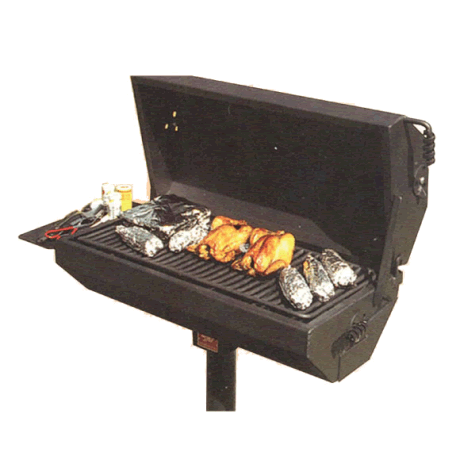 Covered Charcoal Grill