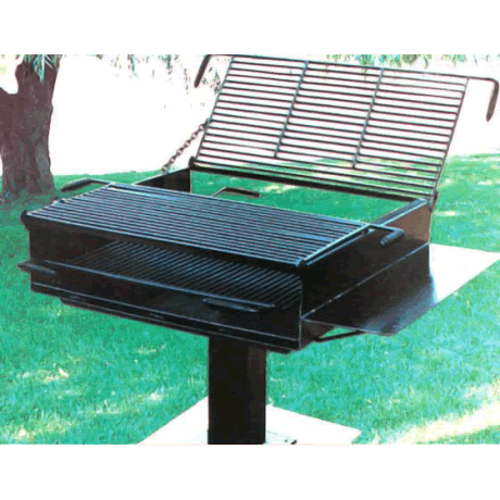Firehouse Large Group Grill with Utility Shelf