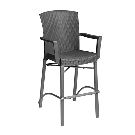Havana Classic Barstool with Arms - Charcoal