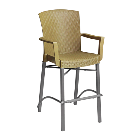 Havana Classic Barstool with Arms - Tobacco