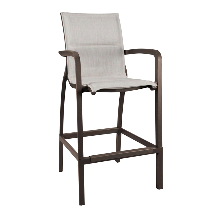 Sunset Comfort Barstool - Fusion Bronze Frame with Beige Comfort Sling