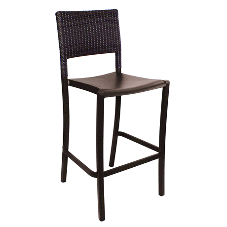 Java Stacking Wicker Barstool - Bronze