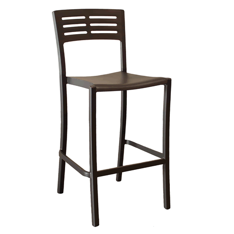 Vogue Stacking Barstool - Black