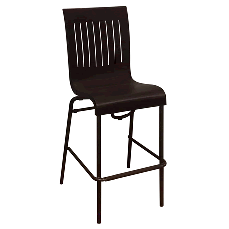 Viva Stacking Barstool - Charcoal Back with Charcoal Seat