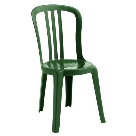 Miami Bistro Stacking Sidechair - Amazon Green