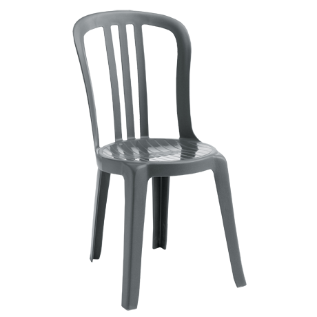 Miami Bistro Stacking Sidechair - Charcoal