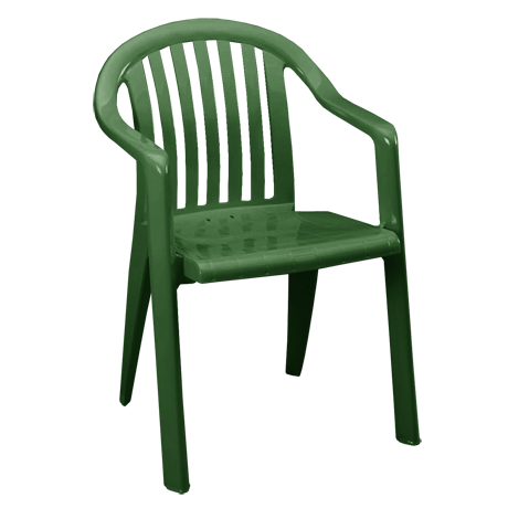 Miami Lowback Stacking Armchair - Amazon Green