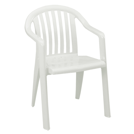 Miami Lowback Stacking Armchair - White