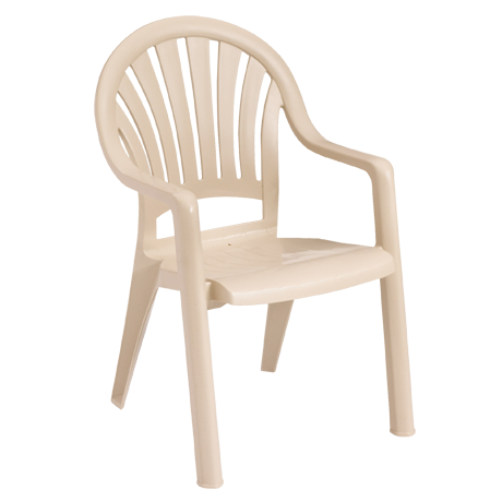 Pacific Fanback Stacking Armchair - Sand
