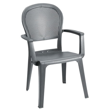 Seville Highback Stacking Armchair - Charcoal