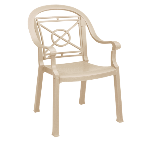 Victoria Classic Stacking Armchair - Sandstone