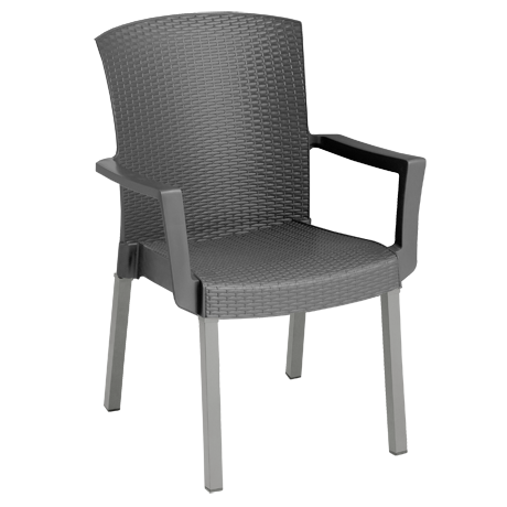 Havana Classic Stacking Armchair - Charcoal