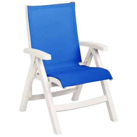 Grosfillex Belize Midback Folding Sling Chair