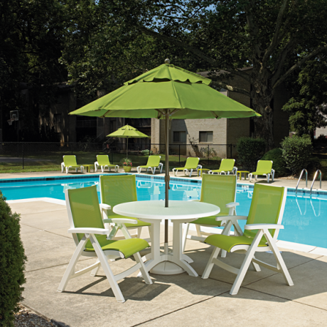 Belize Midback Folding Sling Chair - Poolside Seating