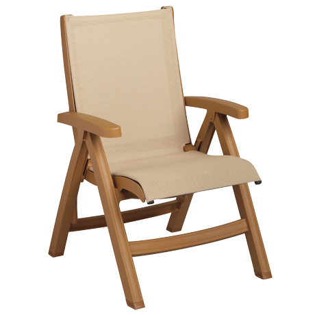 Grosfillex Belize Midback Folding Sling Chair-