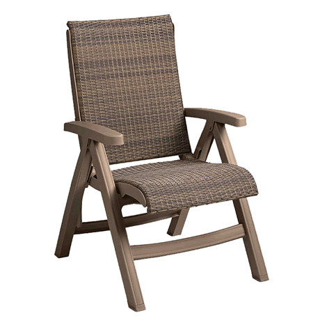 Java All-Weather Wicker Folding Chair 2 Pack