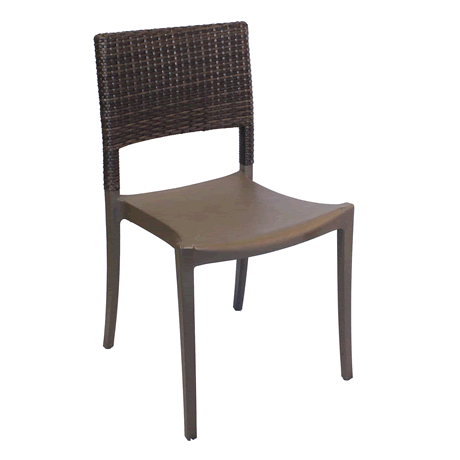 Java Stacking Wicker Side Chair - Bronze