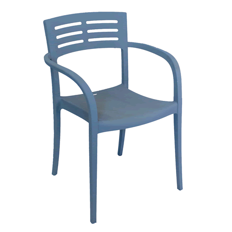 Vogue Stacking Armchair - Blue Denim