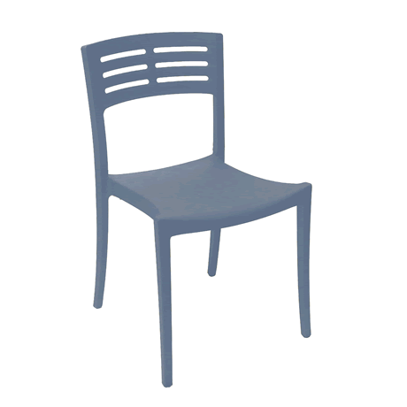 Vogue Stacking Side Chair - Blue Denim
