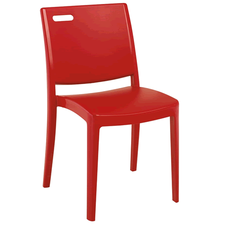 Metro Stacking Chair - Apple Red