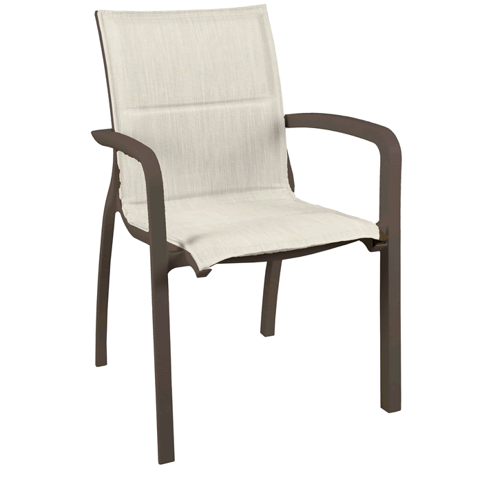 Sunset Comfort Armchair - Fusion Bronze Frame with Beige Sling