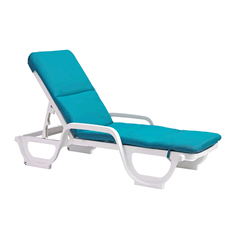 Bahia Chaise Cushion With Hood - Aqua Marine