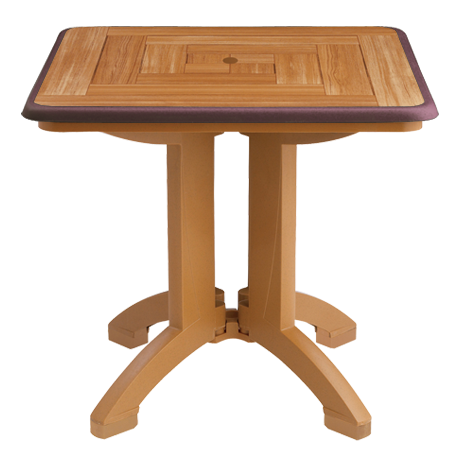 "Atlantis 32"" Square Resin Folding Table"