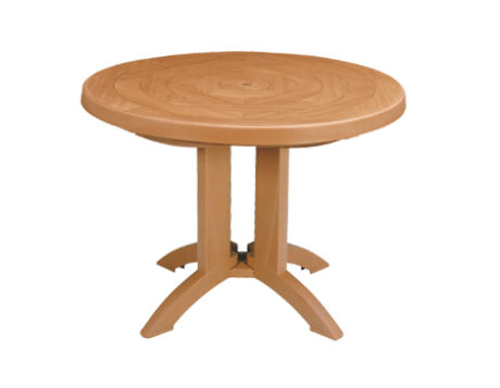 "Atlantis 38"" Round Resin Folding Table"