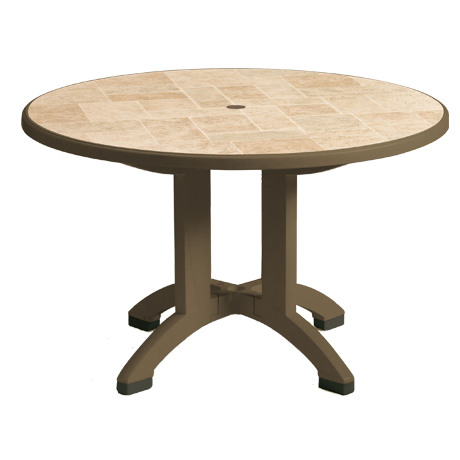 "Siena 38"" Round Resin Folding Table"