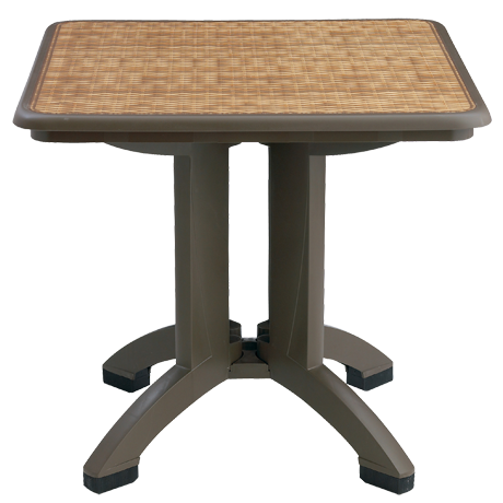 Grosfillex Havana 32 In. Square Folding Table-