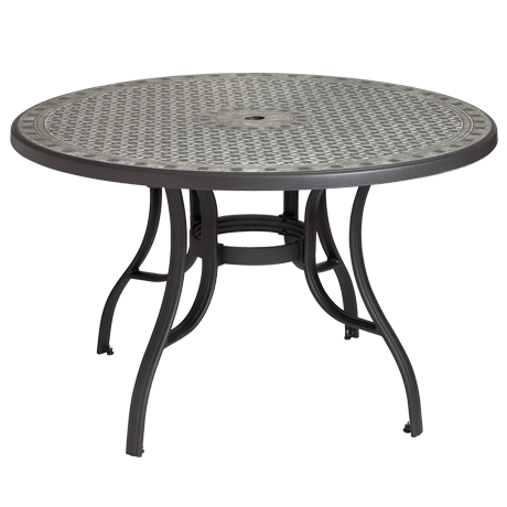"Cordoba 48"" Round Table With Metal Legs"