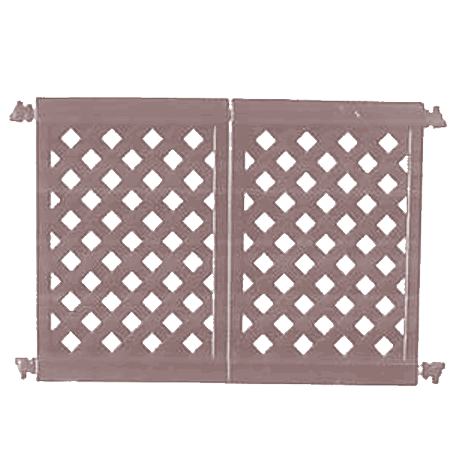 Decorative Patio Fencing 2 Panel Section