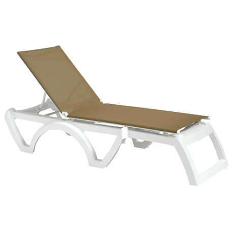 Jamaica Beach Adjustable Sling Chaise Lounge without Arms
