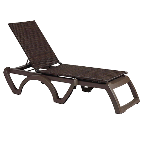 Java All-Weather Wicker Chaise Lounge - Bronze