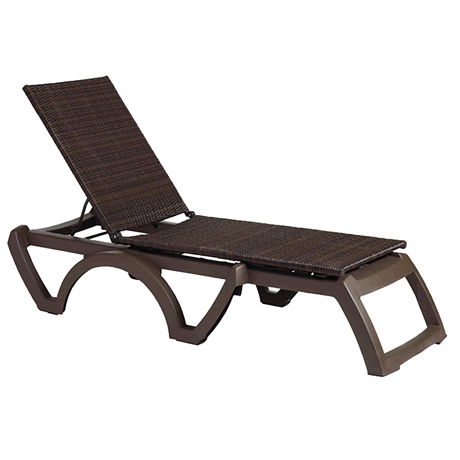 Java All-Weather Wicker Chaise Lounge, Frame Color: Bronze Mist, Espresso Wicker Weave