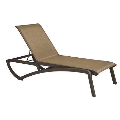 Sunset Chaise Lounge 2 Pack, Cognac Sling with Fusion Bronze Frame