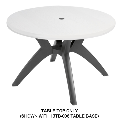 Grosfillex Molded Melamine Table Top - 48 In. Round-Table Tops