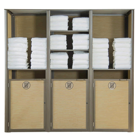 Sunset Towel Valet - Triple Unit, Fusion Bronze Frame with Cognac Inserts