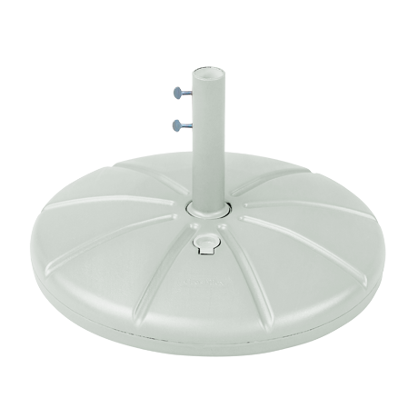 Grosfillex Resin Umbrella Base With Filling Cap and 10 In. Stem-Umbrella Base