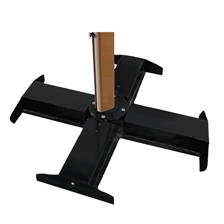 Cross Base for Cantilever Umbrella - Black