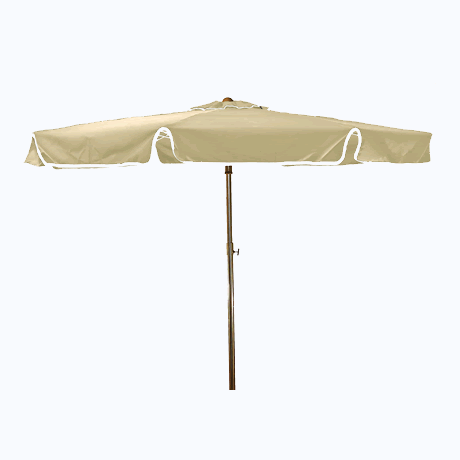 "Beachmaster Fiberglass Umbrella with 1-1/2"" Pole - Ivory"