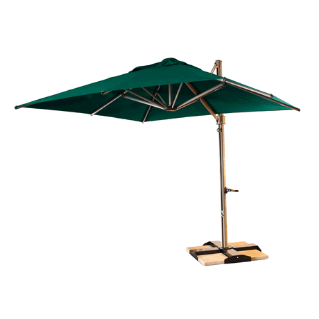 Windmaster10 Square Cantilever Umbrella - Forest Green