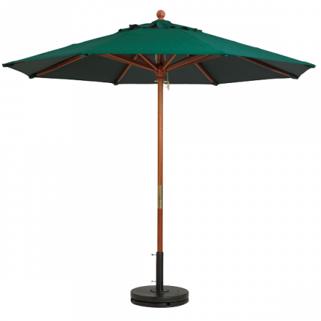 9' Wooden Market Umbrella