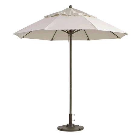 "Windmaster Round Fiberglass Umbrella with 1-1/2"" Aluminum Pole - Canvas"