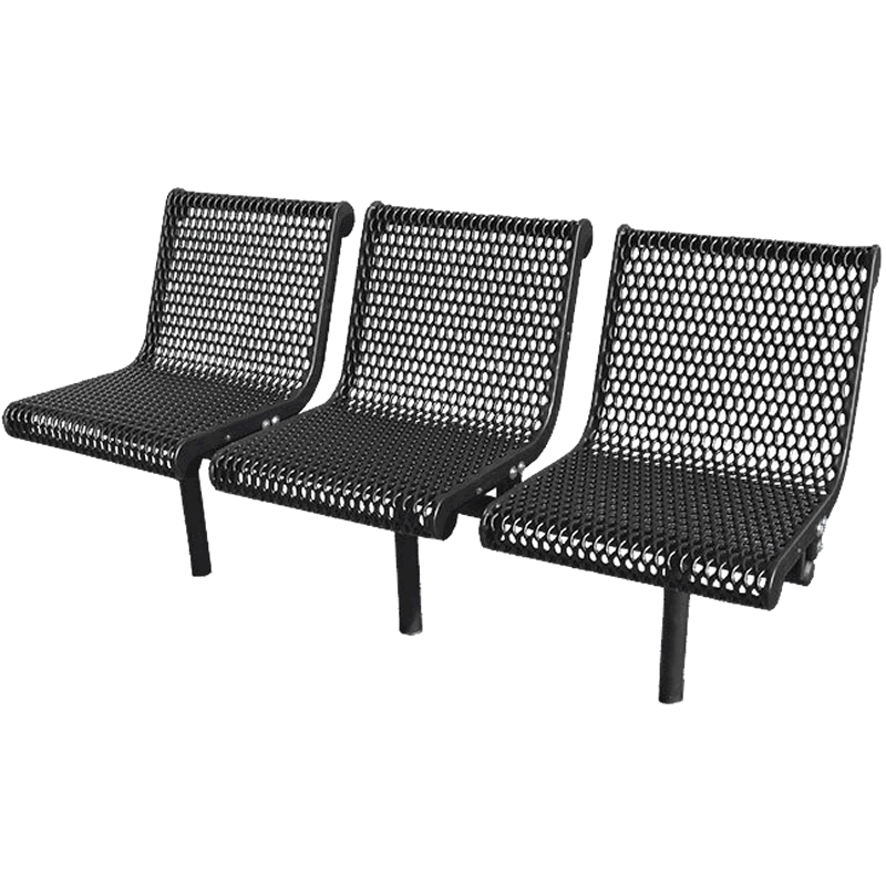 Grand Contour Series 3 Seat In-Line Bench with Back