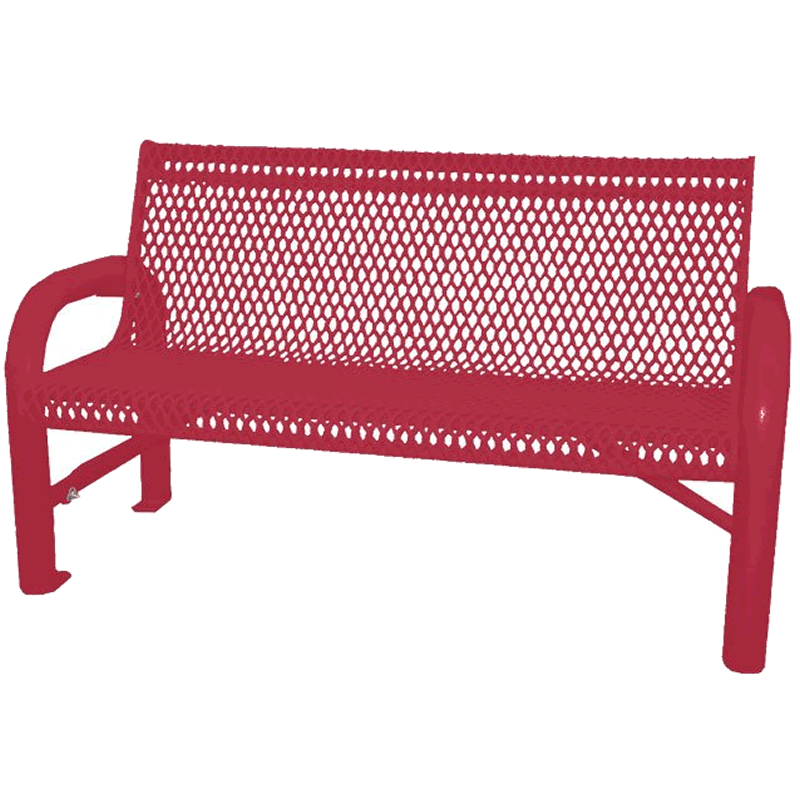 Grand Contour Series Park Bench with Back