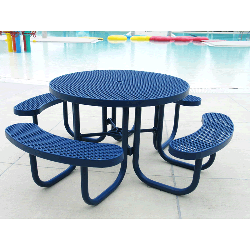 Champion Series Round Picnic Table - Free Standing - 4' Top