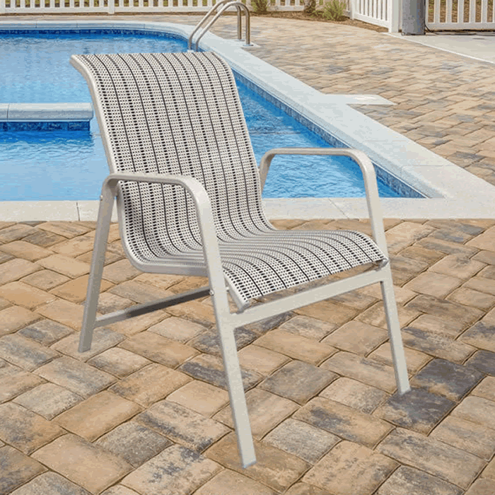 Bonaire Sling Stackable Low Back Dining Chair