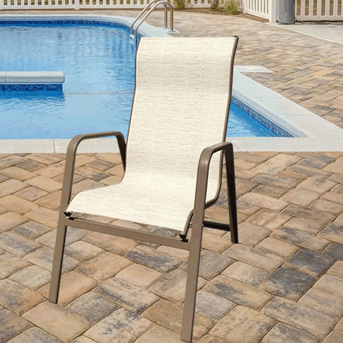 Bonaire Sling Stackable High Back Dining Chair